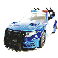 Jada Transfomers Blue & White Custom Police Mustang Barricade 1/32 Scale Diecst Car