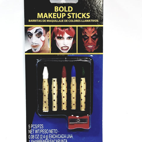 FLOMO Bold Color Makeup Sticks With Sharpener Parties Or Halloween Non Toxic Safe