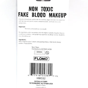 FLOMO Fake Blood Red Liquid Makeup Costume Parties Scares Or Halloween Box Non-Toxic Safe