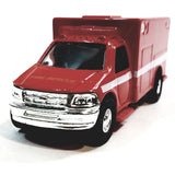 Fire Dept Rescue FDNY Red Ford E-350 Paramedic Ambulance 1/48 Scale 911 Emerg...