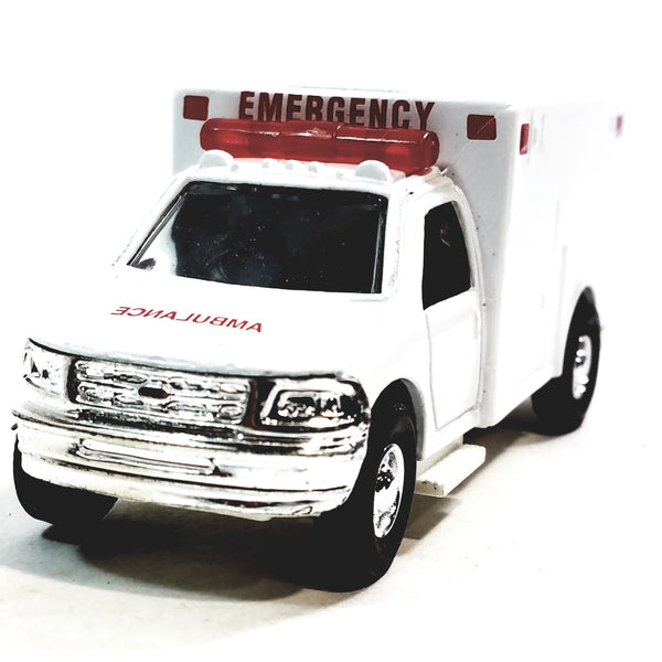 Rescue FDNY Blank White Ford E-350 Medical Services Paramedic Ambulance No Decals