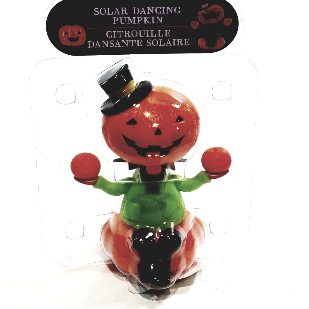 Solar Halloween Dancer Pumpkin Tongue Out Solar/Light Activated Moving Tongue