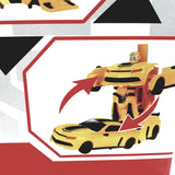 REN DA Power World Transfiguration Yellow Camaro R/C Functional Remote Transforming Car