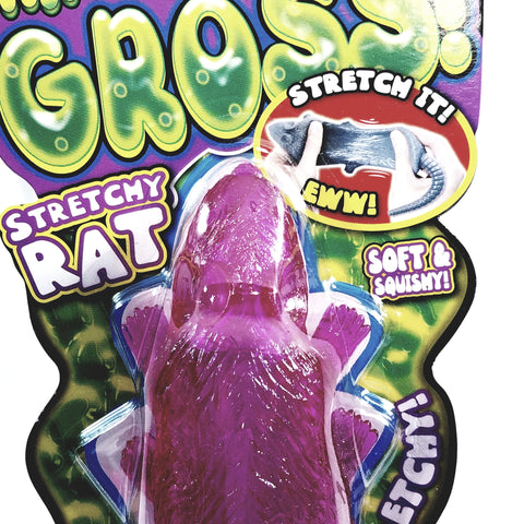 Thats Gross Pink Sticky Stretchy Fake Life-Size Rubber Rat