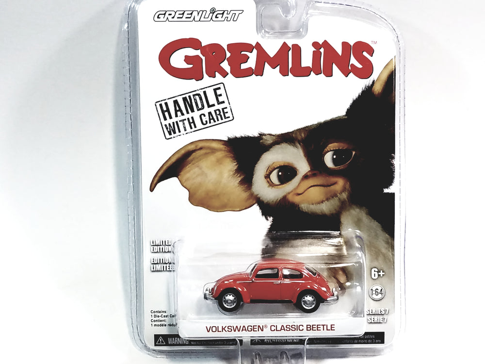 Greenlight Gremlins Red Classic Volkswagen VW Beetle Hollywood 1/64 Diecast Car