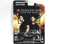 Greenlight Supernatural Black 1970 Dodge Charger Hollywood (8) 1/64 Diecast Car