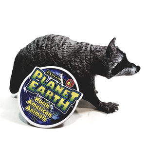 "PLANET EARTH The Raccoon 4"" North American Animals Plastic Figure"