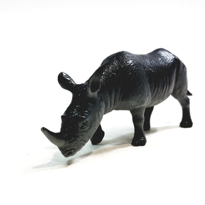 "Cyberkidz Animal Earth Black Rhino 5"" Plastic Figure Rhinoceros"
