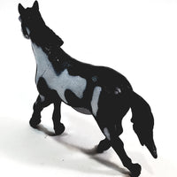 "PLANET EARTH Black & White Mustang 5"" North American Animals Plastic Figure"
