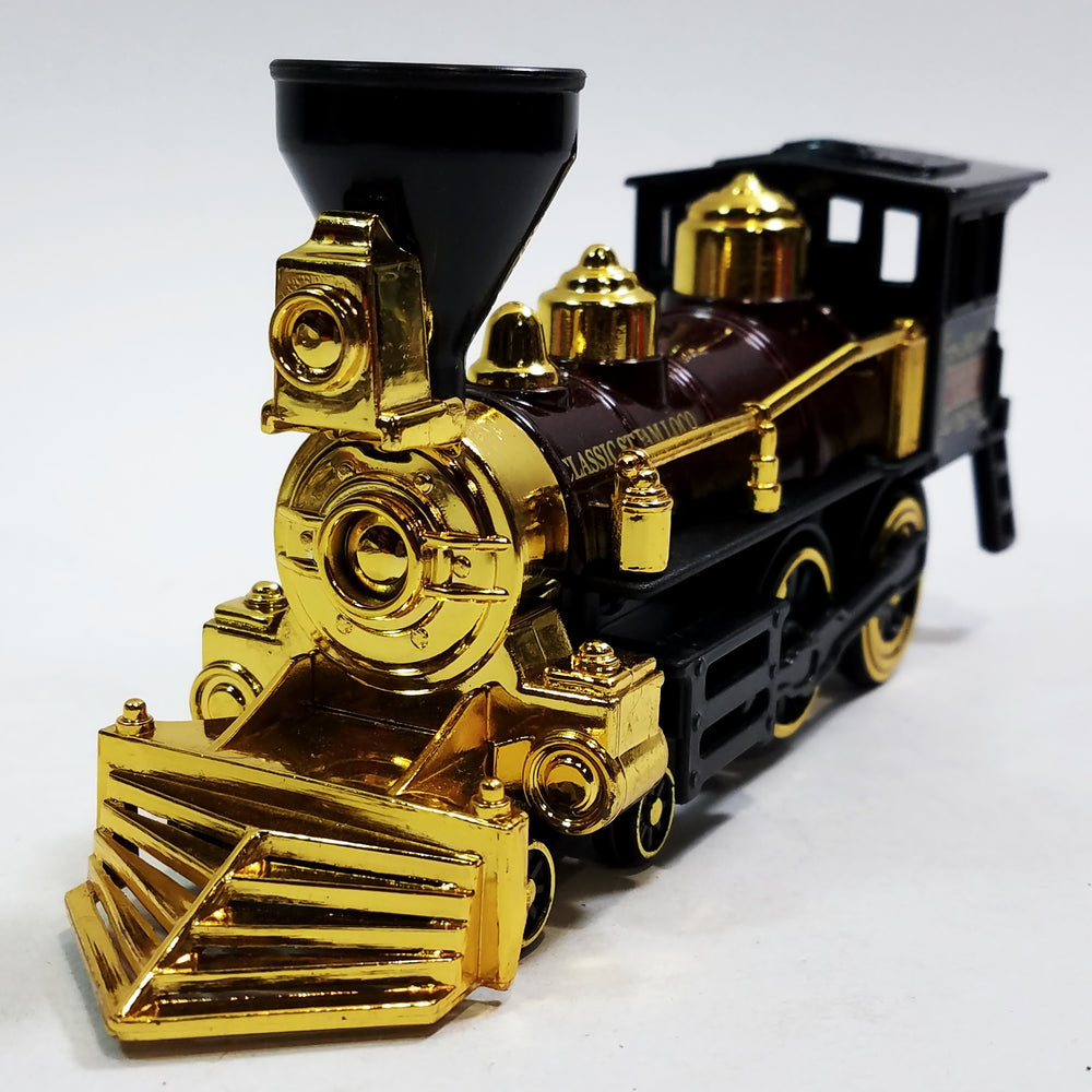 SF Toys Classsic Black Brown & Gold Retro Steam Engine Locomotive 7