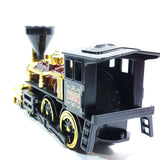 "SF Toys Classsic Black Brown & Gold Retro Steam Engine Locomotive 7"" Diecast Train"