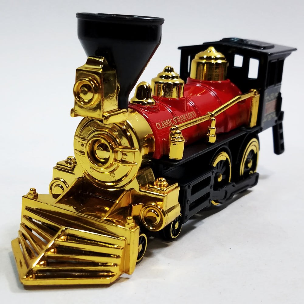 SF Toys Classsic Black Red & Gold Retro Steam Engine Locomotive 7