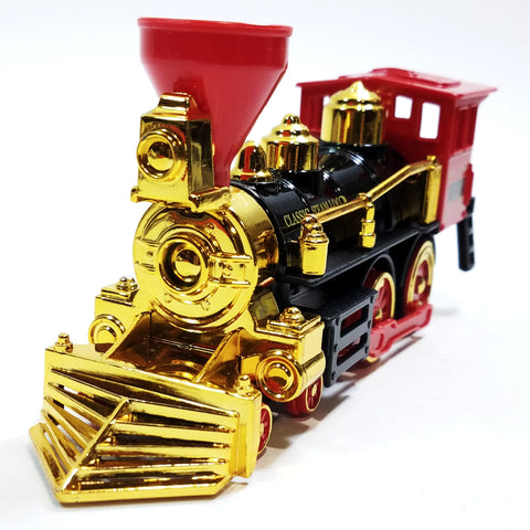 "Classsic Red Black & Gold Retro Steam Engine Locomotive 7"" Diecast Train"