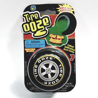 Tire OOZE With Wheel Shaped Container With Yellow Slime Inside 3.17 oz Of Goop
