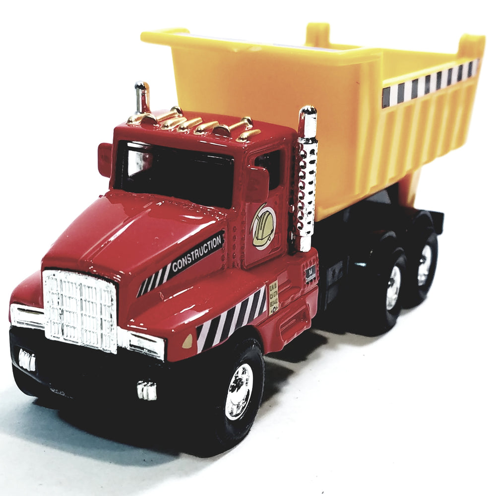 Red & Yellow International Large Dump Truck 5