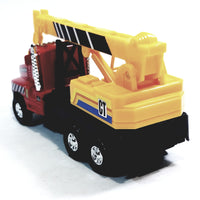 Red & Yellow International Crane Truck 1/34 Scale Commercial Construction Diecast w/Hook
