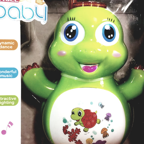 Angel Baby Dynamic Dancing Green Turtle Musical Toddler Toy