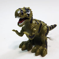 "Dino World Dinosaurs Mini Green Tyranosaurus Rex Moving 4"" Wind Up Toy"