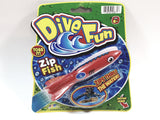 Dive Fun Orange & Blue #9 Zip Fish Water Tossing Pool Toy