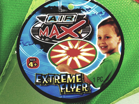 Air Max Green & Orange Extreme Flyer Park/Backyard Flying Frisbee Toy
