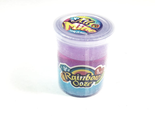 All Mine 3 Color Purple/Lavender/Teal Glitter Slime 5.4oz Container