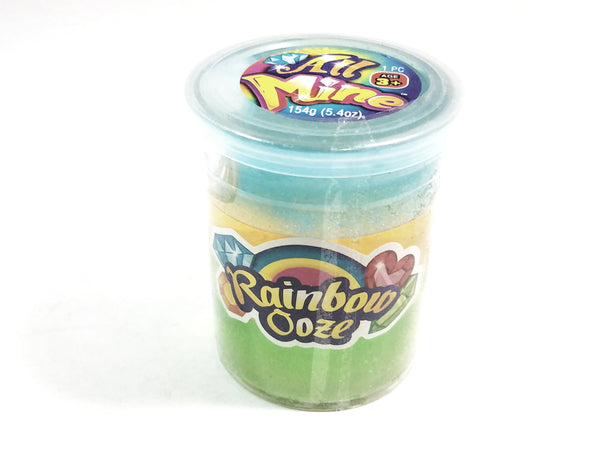 All Mine 3 Color Teal/Yellow/Lime Green Glitter Slime 5.4oz Container