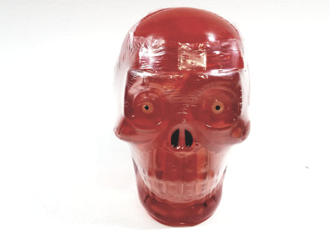 Skeleton Grinning Skull Red Color Slime Medium Ooze Gag 96g In 3.39oz Container Of Goop