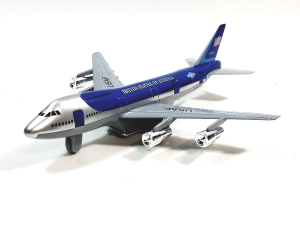 "SF Toys Boeing 747 Air Force One 1990 Presidential Aircraft 7.5"" Diecast Plane"