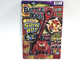 Battle Bops Light Up Red Crooked Smile Spin Bot Ripcord Spin Top Light Up Action