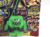 Battle Bops Light Up Green Toothy Grin Spin Bot Ripcord Spin Top Light Up Action