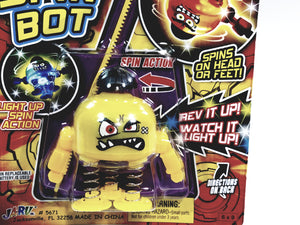 Battle Bops Light Up Yellow Sharp Tooth Spin Bot Ripcord Spin Top Light Up Action