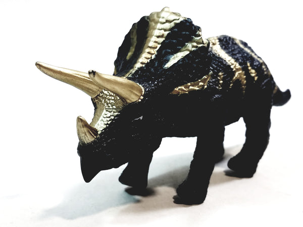 "Dino World Dinosaurs Mini Gray Triceratops Moving 6.75"" Wind Up Toy"