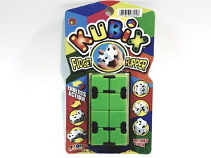 Kubix Green & Black Fidget Flipper Puzzle Strategy Brain Tease Game