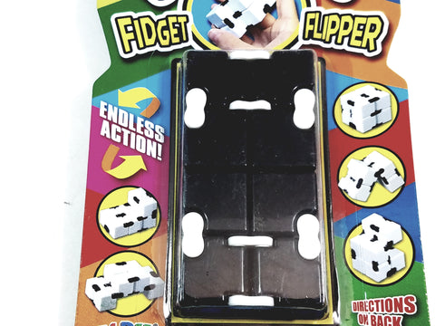 Kubix Black & White Fidget Flipper Puzzle Strategy Brain Tease Game