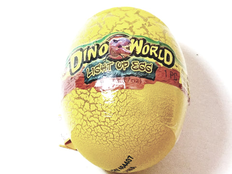 Dino World Yellow Dinosaur Egg Light Up 30g of Slime In Container