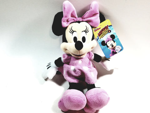 "Disney's Mickeys Roadster Racers Small 12"" Soft Plush Classic Minnie Mouse Cartoon Character ROADSTER"