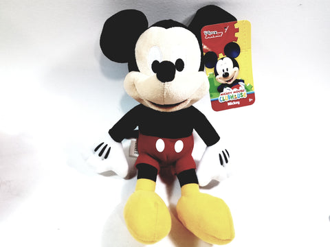 "Disney's Small 12"" Soft Plush Classic Mickey Mouse Cartoon Character"