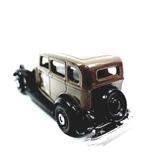 Matchbox 65th Anniversary Brown 1933 Plymouth PC Police Rescue Sedan 1/64 S Scale Diecast
