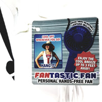 Fantastic Fan White Peronal Handheld Rechargeable Battery Micro USB Fan Lanyard & Micro USB Cord