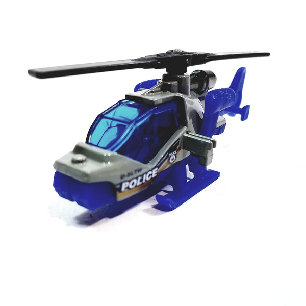 Matchbox Limited Blue & Gray Police DSLTM Mission Helicopter 1/64 S Scale NYC Diecast SUV