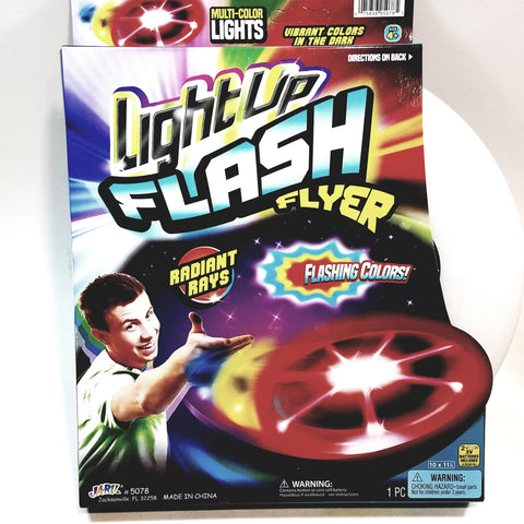 Light-Up Flash Flyer Multi Lited Frisbee Battery Operated Flying Disc..