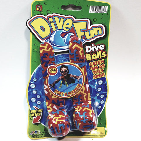 Dive Fun Set Of 2 Diving Balls Fun Pack Toss Em In Water Pool/Beach Accessories