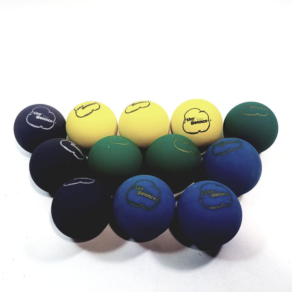 SKY BOUNCE Multi Color Handball/Racquetball Set Of 12 (1 Dozen) Racket Ball (...