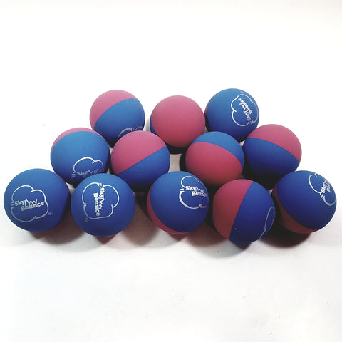 SKY BOUNCE Half/Half Dual Color Pink & Blue Handball Set Of 12 (1 Dozen) Balls