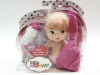 "Little Mommy Mini Baby 6"" (16cm) Baby Doll With Bottle & Blanket"