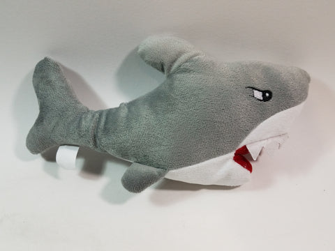 "National Prize Great White Shark Open Mouth Jagged Teeth 10"" Plush With Moveable Tail"