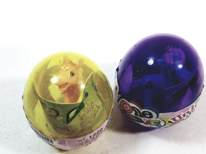 One Love Unicorn Egg Doll Set Of 2 Yellow & Purple With Stickers