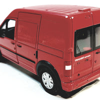 "Welly Red Ford Transit Connect Minivan 4.5"" Scale Diecast Commercial Car"