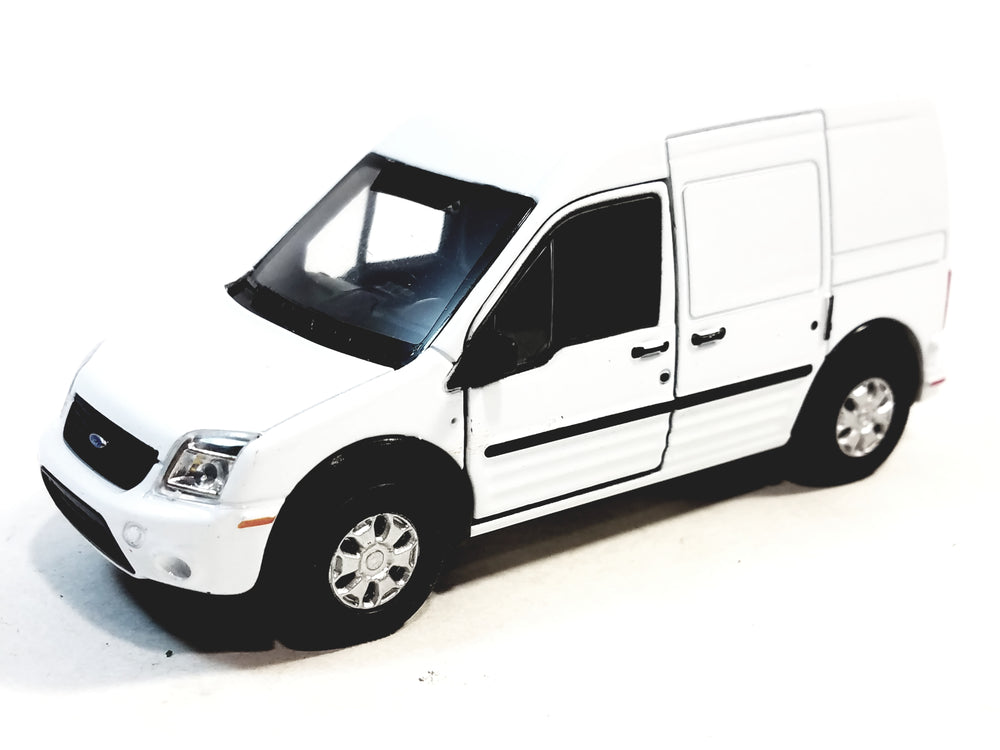 Welly White Ford Transit Connect Minivan 4.5