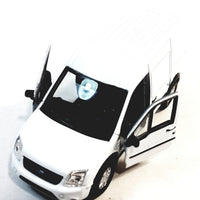 "Welly White Ford Transit Connect Minivan 4.5"" Scale Diecast Commercial Car"